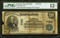 National Bank Notes:Pennsylvania, Jeannette, PA - $20 1902 Plain Back Fr. 650 The Peoples NB Ch. # 7792 PMG Fine 12 Net.. ...