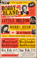 "Movie Posters:Musical, Bobby ""Blue"" Bland & Other Lot (After All Productions, 1981). Overall: Fine/Very Fine. Day-Glo Concert Jumbo Window Cards (3... (Total: 3 Items)"