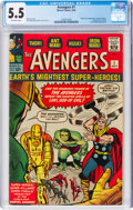 Silver Age (1956-1969):Superhero, The Avengers #1 (Marvel, 1963) CGC FN- 5.5 Off-white pages....