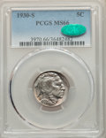 Buffalo Nickels: , 1930-S 5C MS66 PCGS. CAC. PCGS Population: (206/8). NGC Census: (22/1). CDN: $720 Whsle. Bid for problem-free NGC/PCGS MS66...