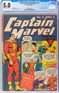 Golden Age (1938-1955):Superhero, Captain Marvel Adventures #9 (Fawcett Publications, 1942) CGC VG/FN 5.0 Cream to off-white pages....