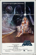 "Movie Posters:Science Fiction, Star Wars (20th Century Fox, 1977). Folded, Very Fine. 3rd Printing One Sheet (27"" X 41"") Tom Jung Artwork. Science Fiction...."