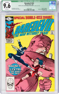Daredevil #181 (Marvel, 1982) CGC Qualified NM+ 9.6 White pages