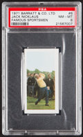 "Golf Cards:General, 1971 Barratt & Co. Ltd. ""Famous Sportsmen"" Jack Nicklaus #6 PSA NM-MT 8...."