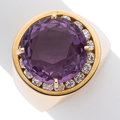 Estate Jewelry:Rings, Amethyst, Diamond, Gold Ring, Linda Joslin. ...
