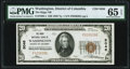National Bank Notes:District of Columbia, Washington, DC - $20 1929 Ty. 1 The Riggs NB Ch. # 5046 PMG Gem Uncirculated 65 EPQ.. ...