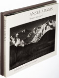 Books:Photography, Ansel Adams. Images 1923-1974. Boston: [1974]. First trade edition, signed by Adams on the half-title. . ...