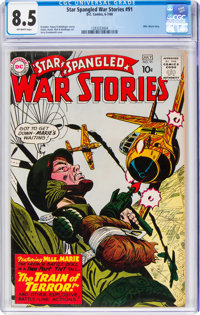 Star Spangled War Stories #91 (DC, 1960) CGC VF+ 8.5 Off-white pages