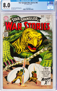 Star Spangled War Stories #96 (DC, 1961) CGC VF 8.0 Off-white to white pages