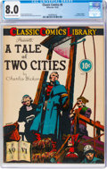 Golden Age (1938-1955):Classics Illustrated, Classic Comics #6 A Tale of Two Cities - Original Edition (Gilberton, 1942) CGC VF 8.0 Off-white to white pages....