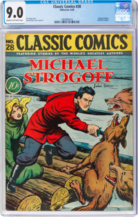 Classic Comics #28 Michael Strogoff - First Edition (Gilberton, 1946) CGC VF/NM 9.0 Cream to off-white pages