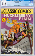 Golden Age (1938-1955):Classics Illustrated, Classic Comics #19 Huckleberry Finn - First Edition 1A (Gilberton, 1944) CGC VF+ 8.5 Off-white to white pages....