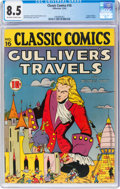 Golden Age (1938-1955):Classics Illustrated, Classic Comics #16 Gulliver's Travels - First Edition (Gilberton, 1943) CGC VF+ 8.5 Off-white to white pages....