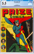 Golden Age (1938-1955):Superhero, Prize Comics #10 (Prize, 1941) CGC FN- 5.5 Cream to off-white pages....