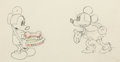 Animation Art:Production Drawing, Puppy Love Mickey Mouse and Minnie Mouse Animation Drawing (Walt Disney, 1933)....