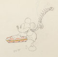 Animation Art:Production Drawing, Building a Building Mickey Mouse Animation Drawing (Walt Disney, 1933)....