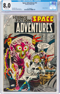 Space Adventures #12 (Charlton, 1954) CGC VF 8.0 Off-white pages