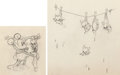 Animation Art:Production Drawing, Mickey's Pal Pluto Minnie Mouse Pair of Animation Drawings (Walt Disney, 1933). . ... (Total: 2 Original Art)