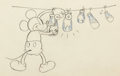 Animation Art:Production Drawing, The Whoopee Party Mickey Mouse Animation Drawing (WaltDisney, 1932). . ...