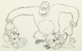 Animation Art:Production Drawing, The Pet Store Mickey and Minnie Animation Drawing (Walt Disney, 1933). . ...
