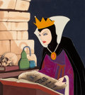 Animation Art:Production Cel, Snow White and the Seven Dwarfs Exceptional Evil Queen Production Cel with Custom Background and Five Signatures (Walt...