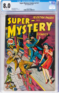 Golden Age (1938-1955):Crime, Super-Mystery Comics V7#1 (Ace, 1947) CGC VF 8.0 Off-white pages....