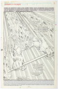 Original Comic Art:Splash Pages, Jim Valentino and Steve Montano Guardians of the Galaxy #4 Splash Page 1 Original Art (Marvel Comics, 1990)....