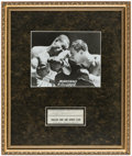 Autographs:Bats, Rocky Marciano Signed Cut Framed Display. Offered ...