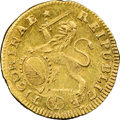 Switzerland:Zurich, Switzerland: Zurich. Canton gold 1/2 Ducat 1714 MS60 NGC,...