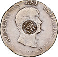 Philippines: Spanish Colony. Isabel II Counterstamped 8 Reales ND (1834-1837) VG10 NGC