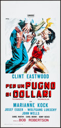 "Movie Posters:Western, A Fistful of Dollars & Other Lot (Unidis, R-1966). Folded, Very Fine. Italian Locandina (13"" X 27"") & Lobby Card (11"" X 14"")... (Total: 2 Items)"