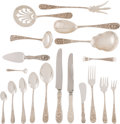 Silver & Vertu:Flatware, A Ninety-Piece Stieff Rose Pattern Silver Flatware Service, Baltimore, Maryland, designed 1892. Marks: STERLIN... (Total: 91 Items)