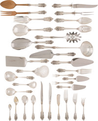 A One Hundred and Fifty-Four-Piece Wallace Grand Baroque Pattern Silver Flatware Service