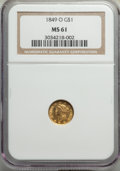Gold Dollars, 1849-O G$1 Open Wreath MS61 NGC. NGC Census: (126/191). PCGS Population: (32/135). CDN: $1,050 Whsle. Bid for problem-free ...