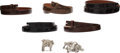 Luxury Accessories:Accessories, Kieselstein-Cord Set of 7: Belts & Silver Belt Buckles. Condition: 4. See Extended Condition Report for Sizes.... ... (Total: 7 )