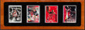 "Autographs:Sports Cards, Michael Jordan Upper Deck Authenticated ""Signature Series"" Ceramic 4 Card Set With One Signed...."