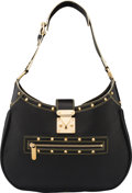 """Luxury Accessories:Bags, Louis Vuitton Black Suhali Leather L'Affriolant Bag with Gold Hardware. Condition: 2. 14"""" Width x 11"""" Height x 4.5"""" De..."""