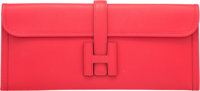 Hermès 35cm Rouge Tomate Epsom Leather Jige Elan Clutch N Square, 2010 Condition: 2