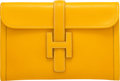 """Luxury Accessories:Bags, Hermès Jaune Epsom Leather Jige PM Clutch. S Circle, 1989. Condition: 2. 11.5"""" Width x 8"""" Height x 1"""" Depth. ..."""