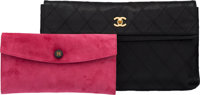 Set of Two: Hermès Tosca Suede Clutch & Chanel Black Caviar Leather Clutch Condition: 3 See Exten