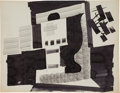 """Books:Original Art, Original Abstract Ink Drawing attributed to Pablo Picasso. One page, 8.25"""" x 10.5"""", n.p. [Paris]; 1942.... (Total: 2 Items)"""