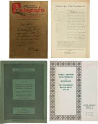 [Maurice Car Catalogues] Approximately 300 Rare Book Shop and Auction Catalogues. ... (Total: 3 Items)