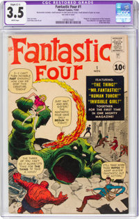 Fantastic Four #1 (Marvel, 1961) CGC Apparent VG- 3.5 Slight (C-1) White pages