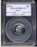 Proof Roosevelt Dimes: , 1979-S 10C Type Two PR70 Deep Cameo PCGS....