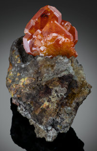 Wulfenite Red Cloud Mine, Silver District, Trigo Mts, La Paz Co., Arizona, USA