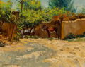 Paintings:20th Century, Dan T. Bodelson (American, b. 1949). Santa Fe Burro, 1981. Oil on linen. 11 x 14 inches (27.9 x 35.6 cm). Signed lower l...