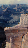 Paintings:20th Century, Earl Carpenter (American, b. 1931). Grand Canyon. Oil on canvas laid on Masonite. 19 x 11-1/2 inches (48.3 x 29.2 cm). S...