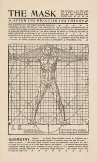 [Edward Gordon Craig]. [Theatre]. The Mask. A Monthly Journal of the Art of the Theatre. Florence (Arena Goldoni... (Tot...