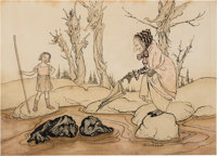 Arthur Rackham (British Artist and Illustrator, 1867-1939). ... and These Stones Are Still Called by the People