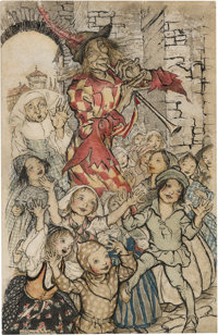 Arthur Rackham (British Artist and Illustrator, 1867-1939). The Pied Piper. [Place of creation